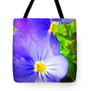 Abstract Violets Tote Bag