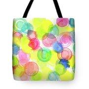 Abstract Watercolor Circles Tote Bag