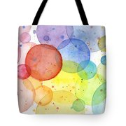 Abstract Watercolor Rainbow Circles Tote Bag