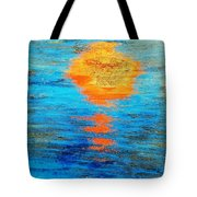 Abstract Watery Sunset Tote Bag