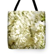 Abstract White Tote Bag