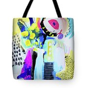 Abstract Wild Flowers Tote Bag