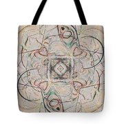 Abstract With Hearts Tote Bag
