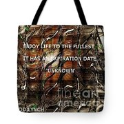Abstract With Quote Tote Bag