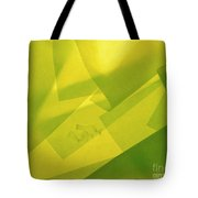 Abstract Yellow And Green With Bottles Tote Bag