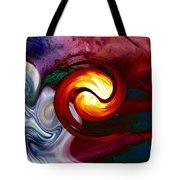 Abstract Yin Yang Lava Tote Bag