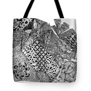 Abstract Zentangle Inspired Design In Black And White Tote Bag