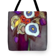 Abstracted Flowers - 4 Tote Bag