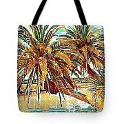 Abstracted Loop Palms Tote Bag