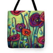 Abstracted Poppies Tote Bag