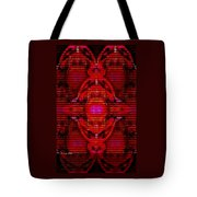 Abstracticalia In Red For Edith And Costa Halkiadakis V  A Tote Bag