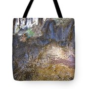 Abstraction In Color And Texture From Wet Rock Tote Bag