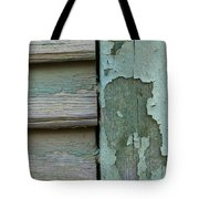 Abstraction In Peeling Paint Close-up Tote Bag