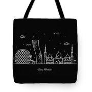 Abu Dhabi Skyline Travel Poster Tote Bag
