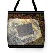 Acadia National Park Centennial Plaque Tote Bag