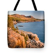 Acadian Cliffs In Autumn 1 Tote Bag by Susan Cole Kelly