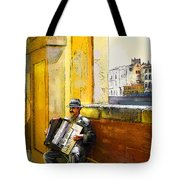 Accordeonist In Florence In Italy Tote Bag