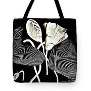 Accordion Leaf Flowers Tote Bag