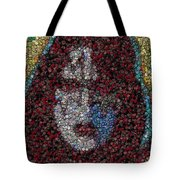 Ace Frehley Poker Chip Mosaic Tote Bag