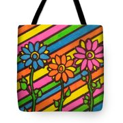 Aceo Abstract Flowers Tote Bag
