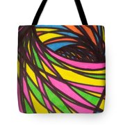 Aceo Abstract Spiral Tote Bag