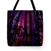 Acid Rain With Red Flowers Tote Bag