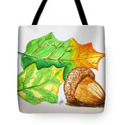 Acorn And Leaves Tote Bag