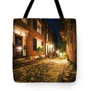 Acorn Street Autumn Boston Mass Painterly Tote Bag