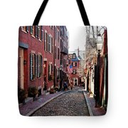 Acorn Street Beacon Hill Tote Bag by Wayne Marshall Chase