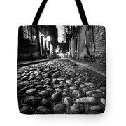 Acorn Street Cobblestone Detail Boston Ma Black And White Tote Bag