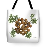 Acorns With Cedar Tote Bag
