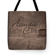 Acoustic Coffee And Tea Signage - 3w Tote Bag