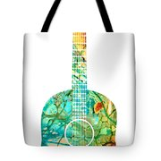 Acoustic Guitar 2 - Colorful Abstract Musical Instrument Tote Bag