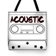 Acoustic Music Tape Cassette Tote Bag
