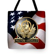 Acquisition Corps - A A C Regimental Insignia U. S. Flag  Tote Bag