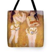 Acrobats At The Cirque Fernando Francisca And Angelina Wartenberg 1879 Tote Bag