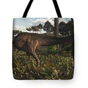 Acrocanthosaurus Dinosaur Roaming Tote Bag
