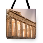 Acropolis Parthenon At Sunset Tote Bag
