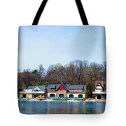 Across From Boathouse Row - Philadelphia Tote Bag by Bill Cannon