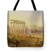 Across The Forum - Rome Tote Bag by Hugh William Williams