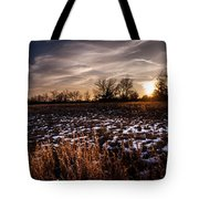 Across The Frozen Fields  Tote Bag