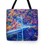 Across The Other Side Of Bear Mountain Bridge Tote Bag