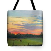 Across The Pasture Tote Bag