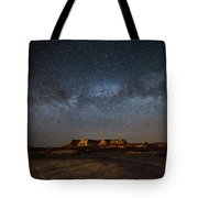 Across The Universe - Milky Way Galaxy Over Mesa In Arizona Tote Bag