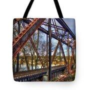 Across The Water 6th Street Rr Bridge Augusta Georgia Art Tote Bag