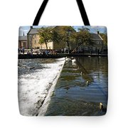 Across The Weir At Bakewell Tote Bag