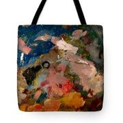 Acryl Color Abstract Tote Bag