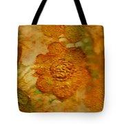 Acryl Painting Goldflowers Tote Bag