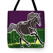 Acrylic Painted Horse On Display Fineart By Navinjoshi At Fineartamerica.com For The Fans Of Horses Tote Bag