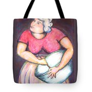 Acrylic Painting Figurative Tote Bag